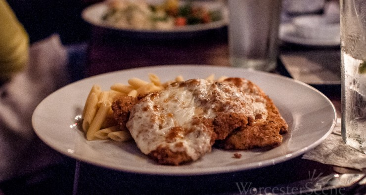 Pollo alla Parmigiana from from Mare E Monti Trattoria on Wall Street in Worcester, MA