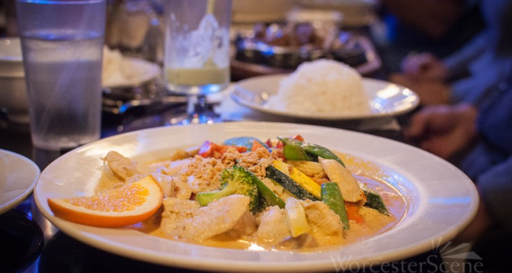 Curry Chicken with Vegetable Medley from Pho Dakao on Park avenue in Worcester, MA