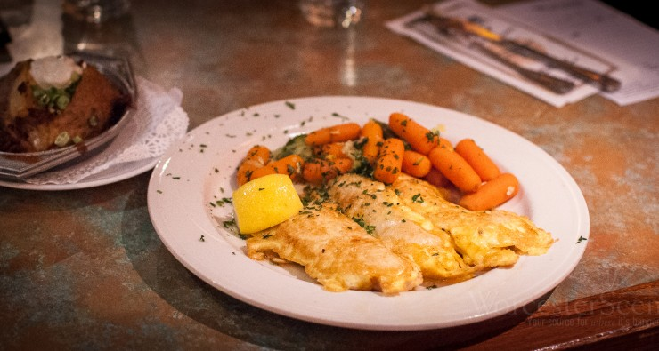 Chicken Francais from O'Connor's on West Boylston Street in Worcester, MA
