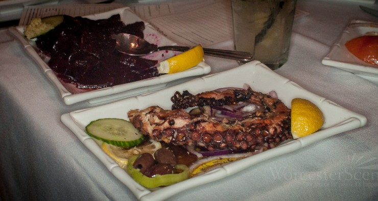 Octopus from Meze on Shrewsbury Street in Worcester, MA