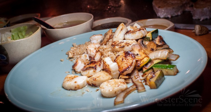 Hibachi Scallops from Takara on Millbury Street in Worcester, MA